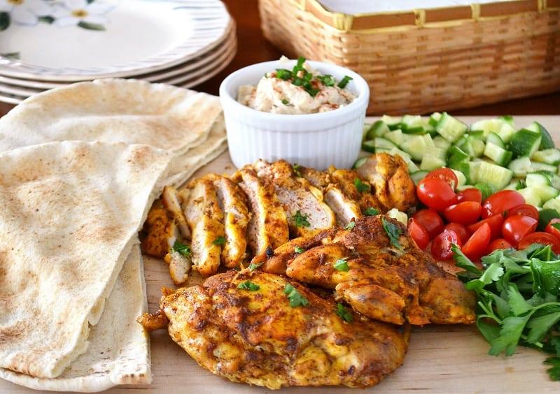 Chicken Shawarma Sandwich Middle Eastern Recipe Jersey Girl Cooks