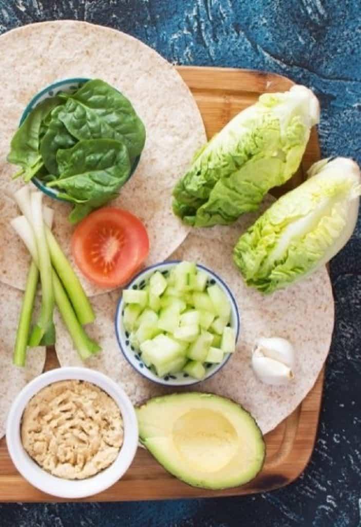 ingredints needed for vegetarian wraps