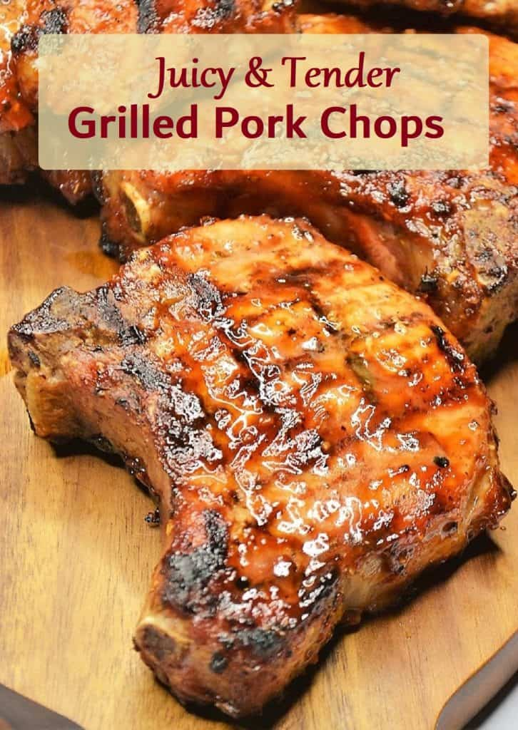 pin for juicy grilled pork chops