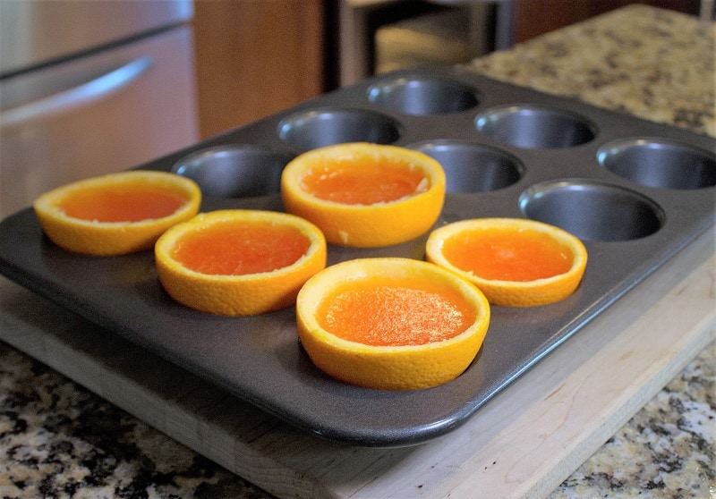 Use muffin tins to hold the shots while they are gelling.
