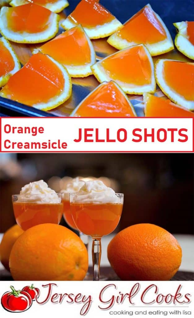 Orange Creamsicle Jello Shots are fun shots to make for a party.