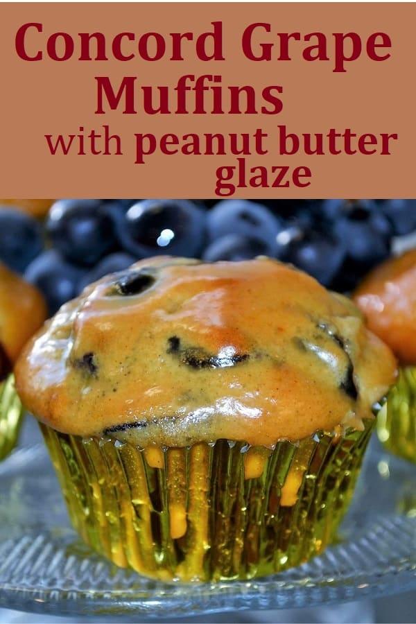 glazed concord grape muffin
