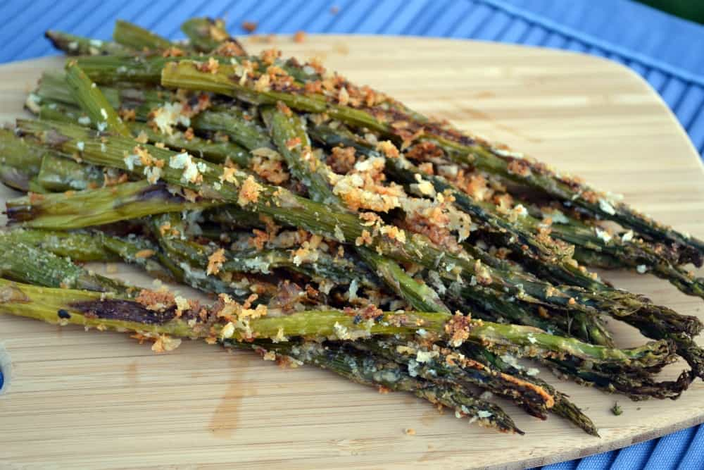 Panko and Parmesan Roasted Asparagus