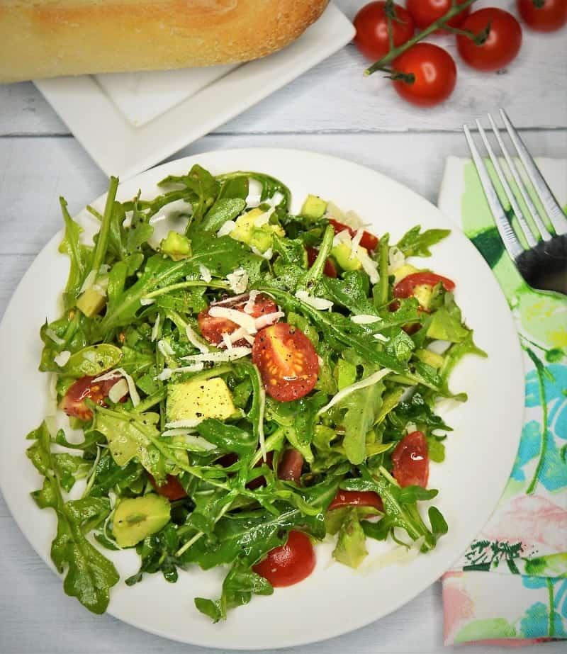Avocado Tomato Arugula Salad