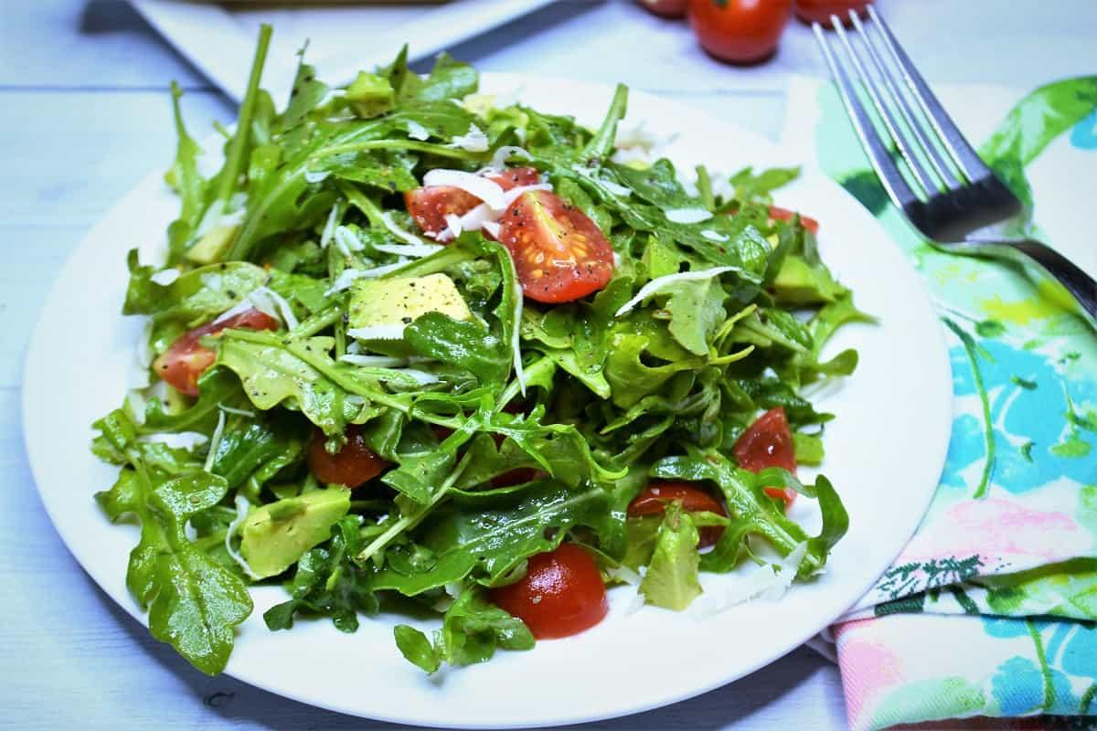 plated arugula salad recipe