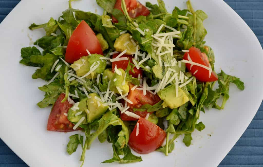 Avocado, Tomato and Arugula Salad with Cilantro Vinaigrette