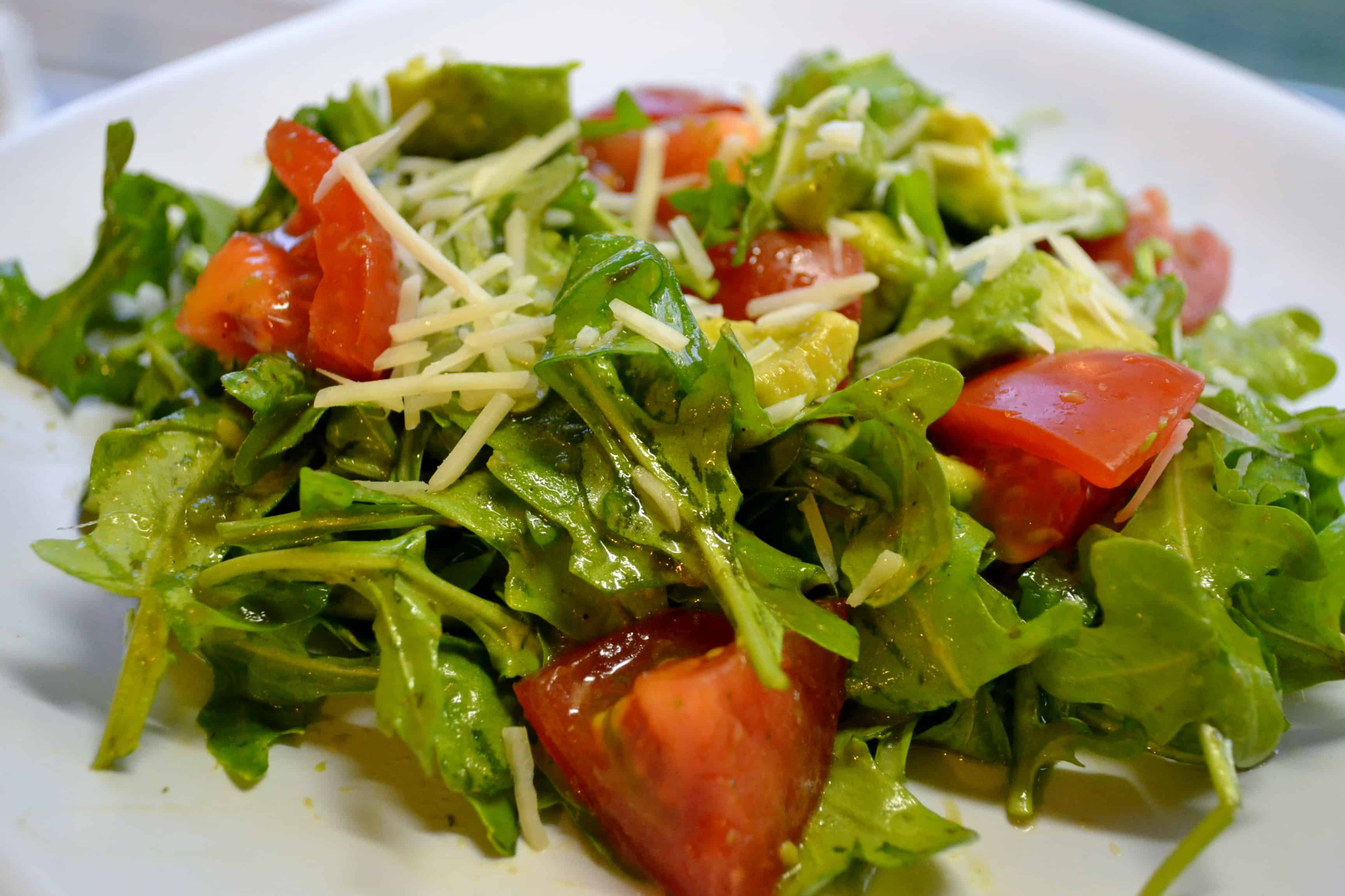 Tomato Avocado and Arugula Salad with Cilantro Vinaigrette