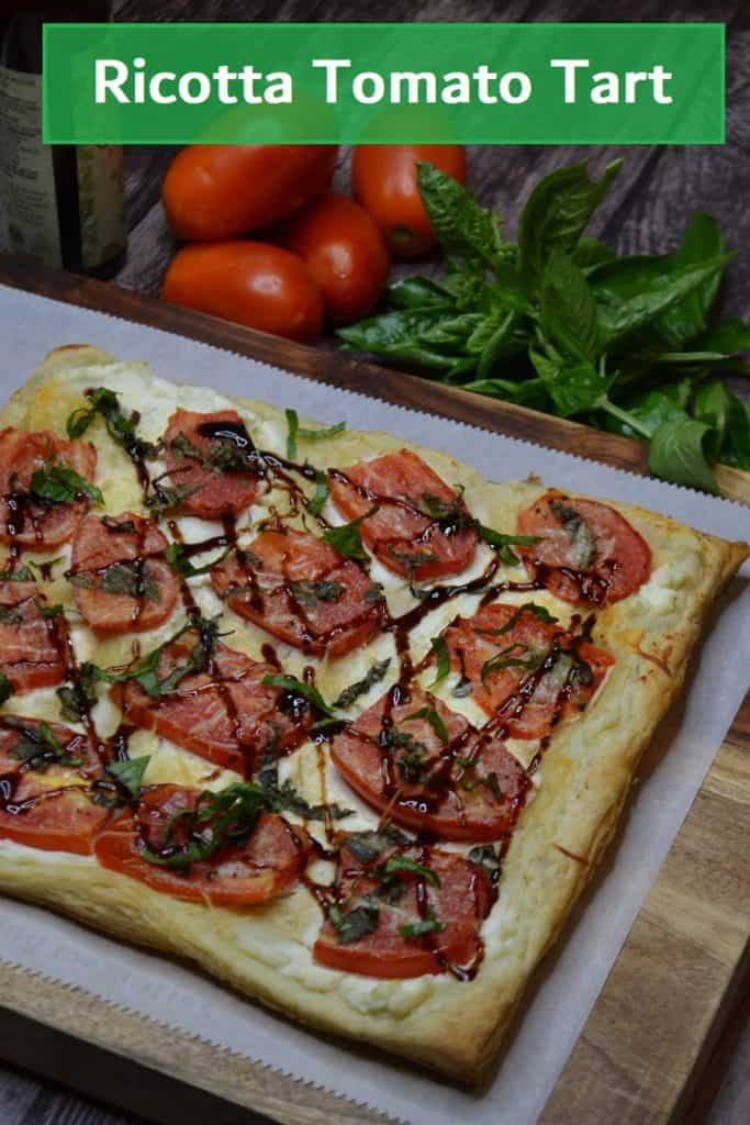 Tomato Tart for pinterest