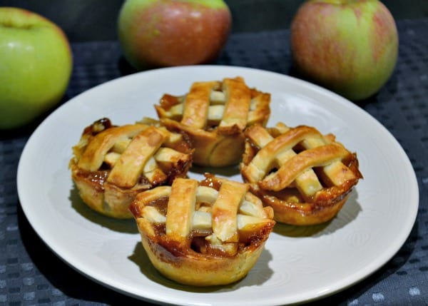 I love serving mini apple pies on Super bowl Sunday. It's good game day food.