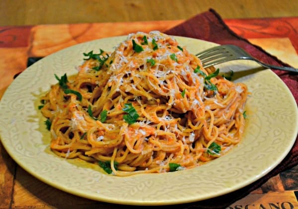 Angel Hair Pasta With Blush Sauce - Jersey Girl Cooks