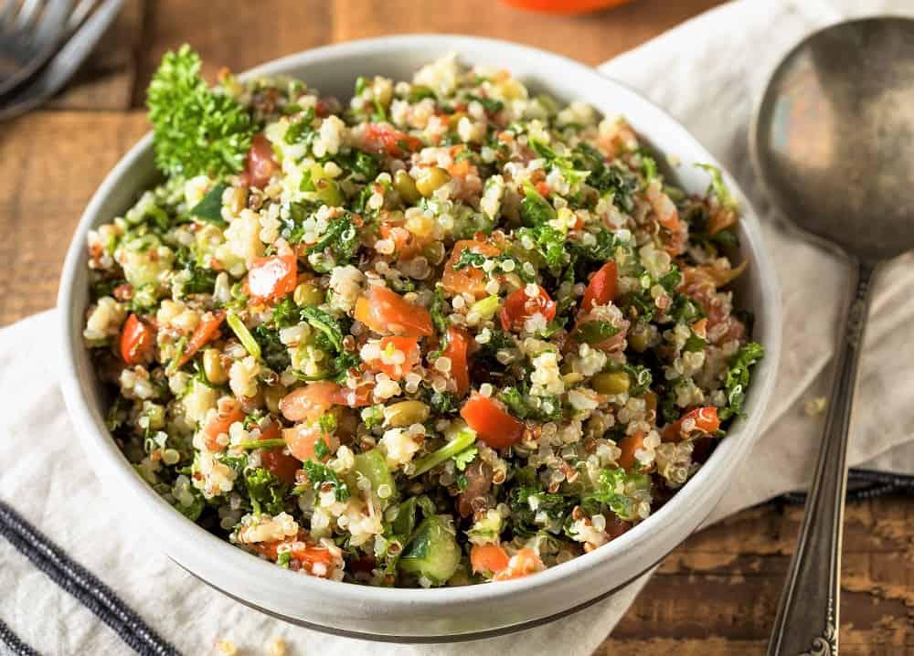 bowl of Greek Quinoa Salad