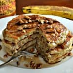 Healthy Banana Pecan Pancakes