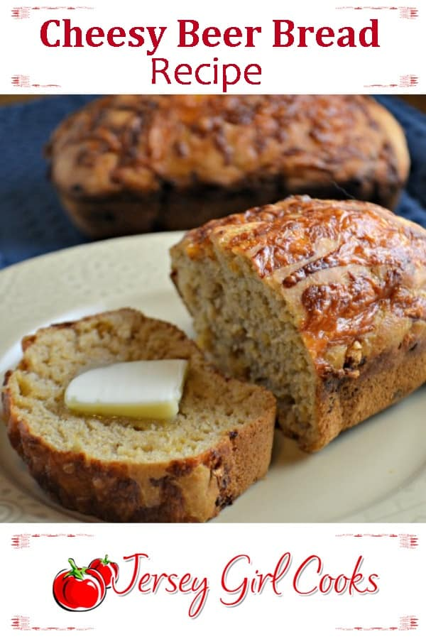 Cheesy Beer Bread with butter