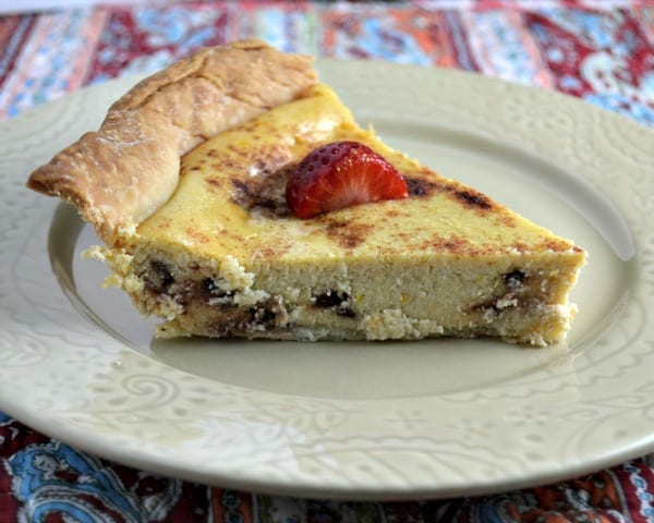 ricotta pie slice