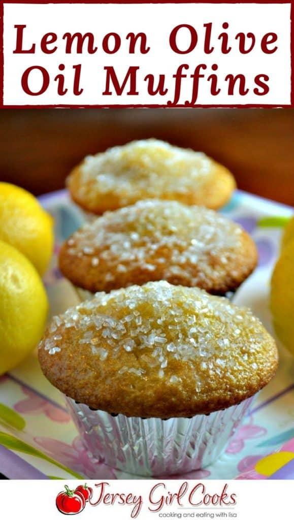 Lemon Olive Oil Muffins Pin