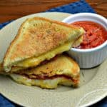 pizza grilled cheese with pepperoni