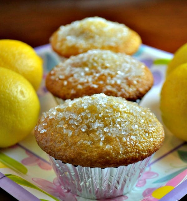 lemon muffins next to lemons