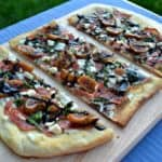 fig - salami flatbread