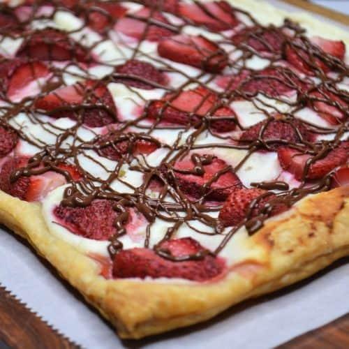 strawberry tart closeup