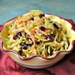 tangy broccoli slaw with coconut and cranberries