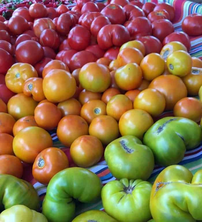 Heirloom NJ Tomatoes ready to be turned into summer tomato recipes