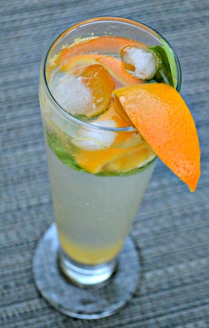 single orange basil drink