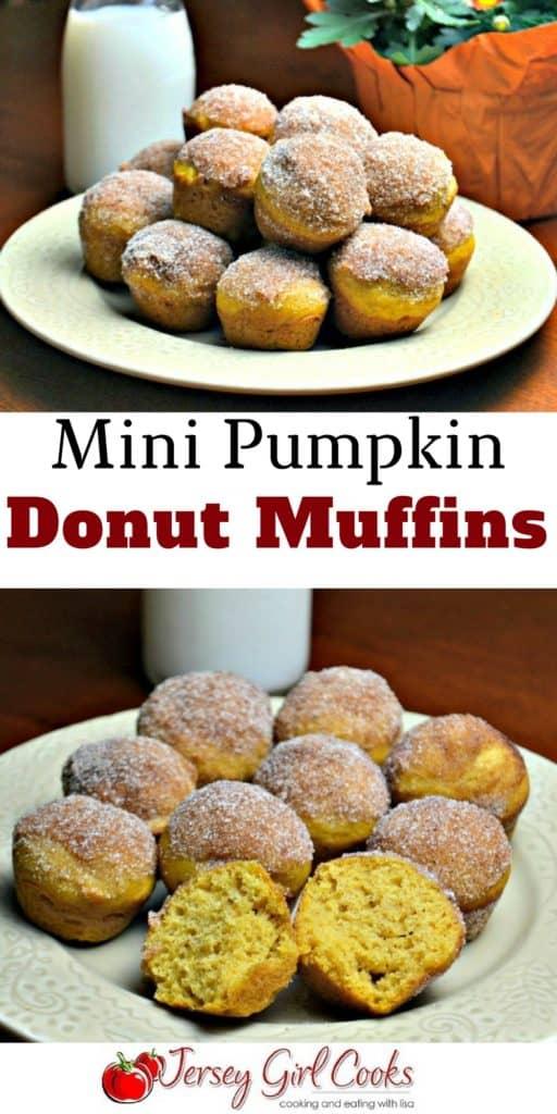 mini pumpkin donut muffins pinterest