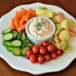 feta dip with veggies