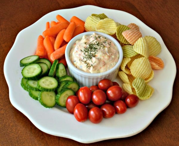 feta cheese dip with veggies