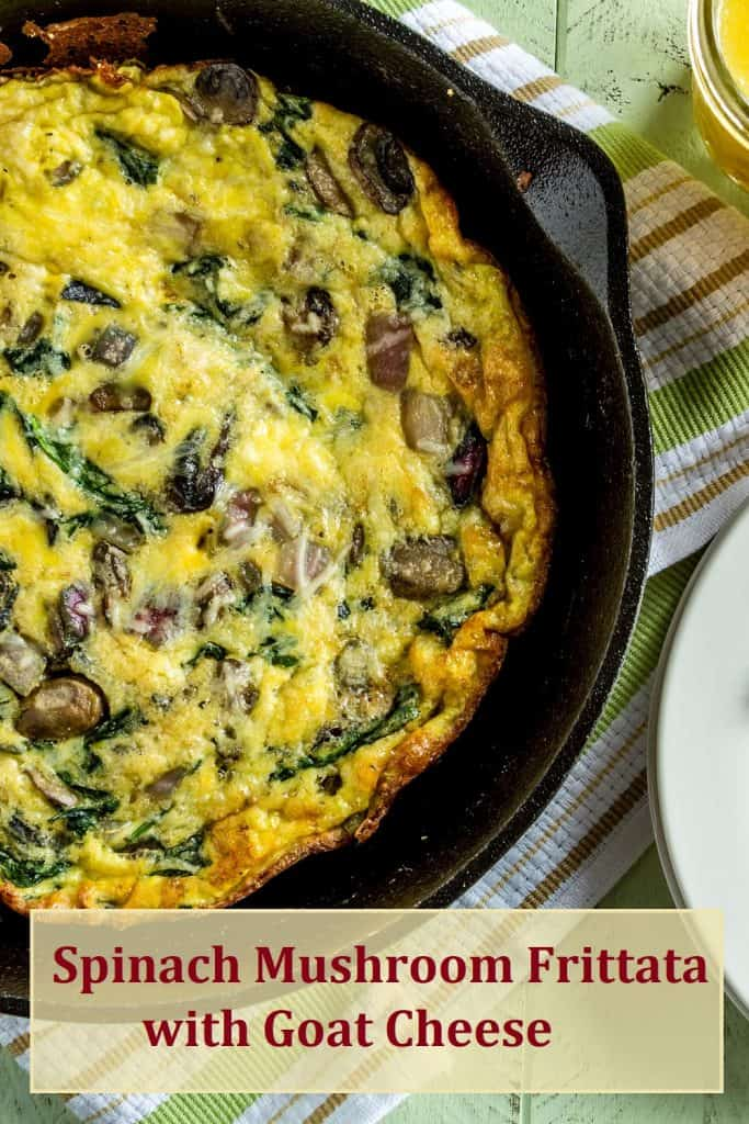Spinach Mushroom Frittata with Goat cheese