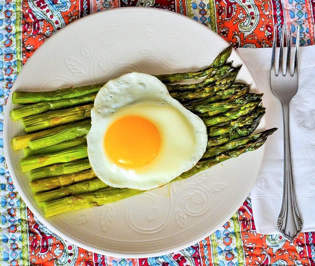 Roasted Asparagus with Eggs
