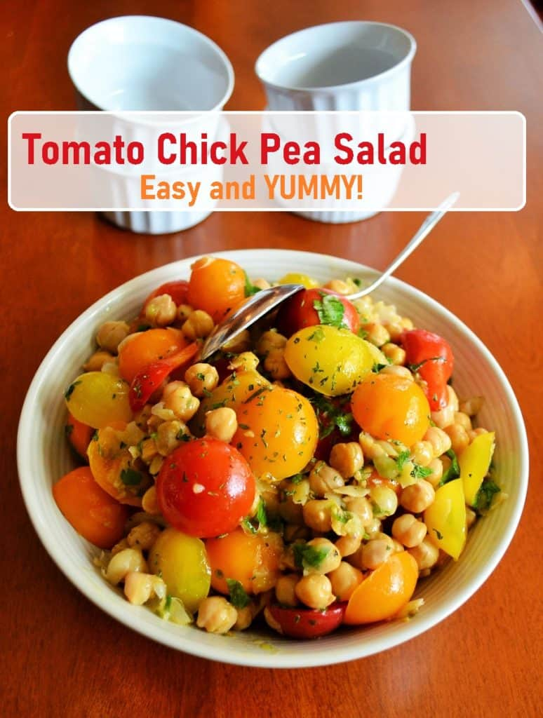 Tomato Chick Pea Salad is healthy and yummy