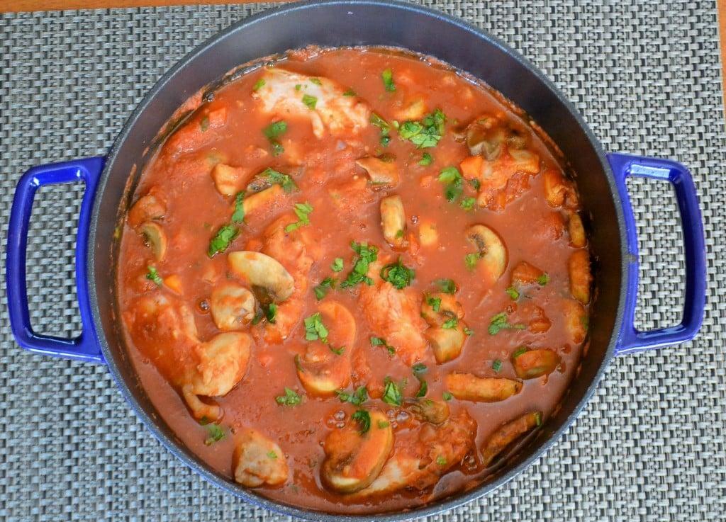 a pot of Easy Chicken Cacciatore