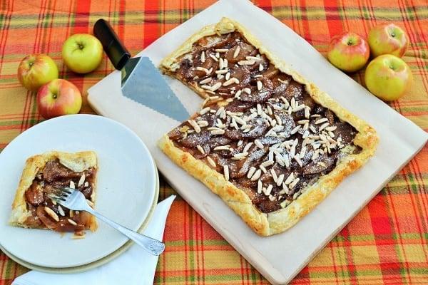 Apple Ricotta galette