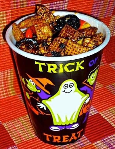 Ghoulishly Good Snack Mix via The Weekend Gourmet