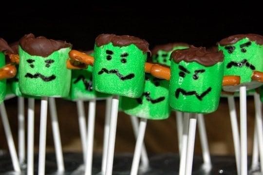 Marshmallow Frankensteins via Souffle Bombay