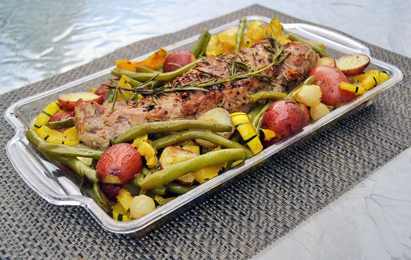 roasted pork tenderloin platter
