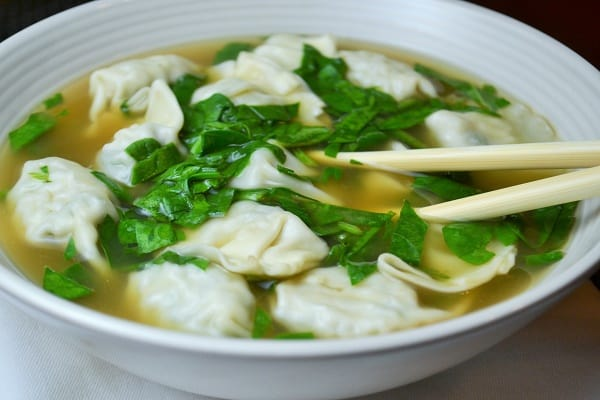 wonton close up