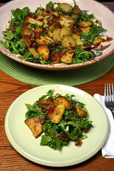Idaho potatoes and aruugula
