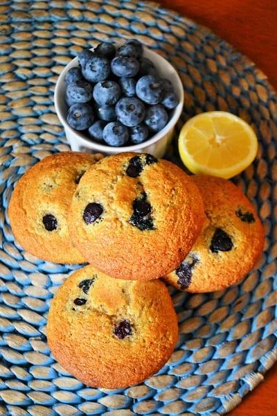 lemon blueberry fruit muffins