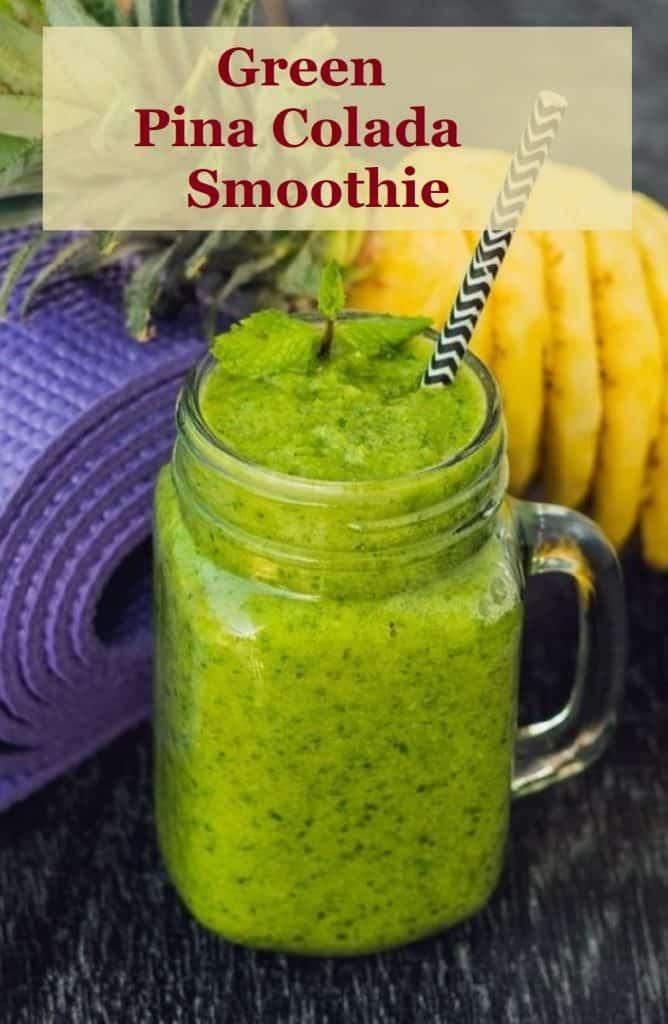 pin for green pina colada smoothie