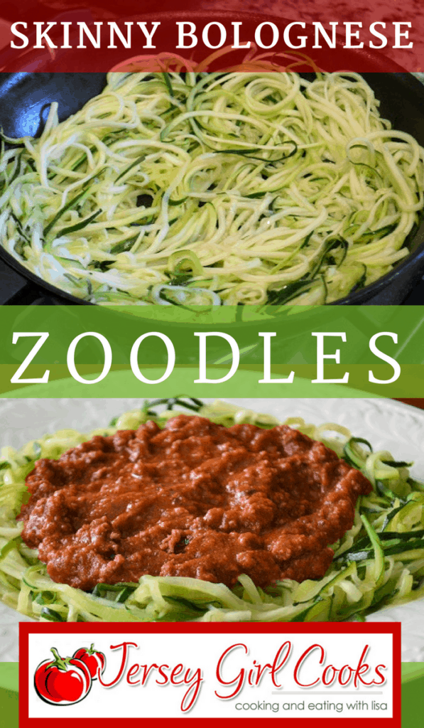 Skinny bolognese with zoodles