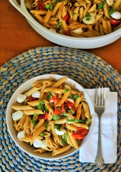One pot Caprese pasta