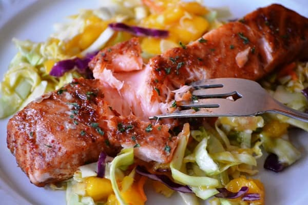 Asian Salmon with slaw