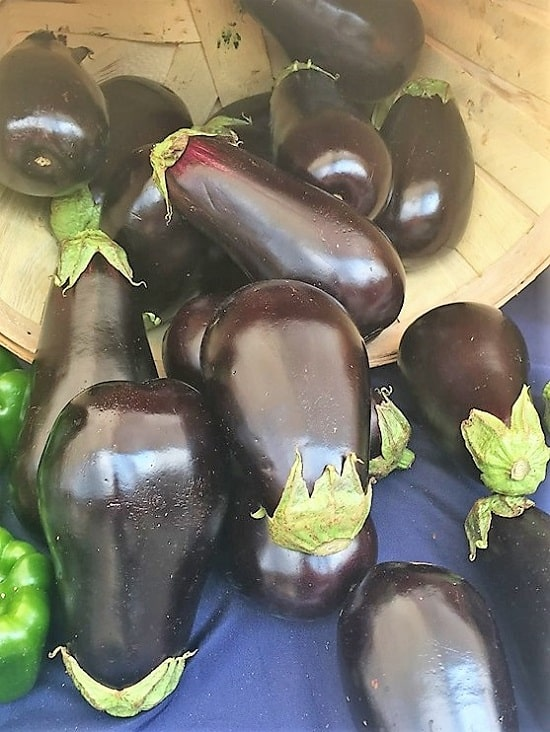 eggplant in a basket