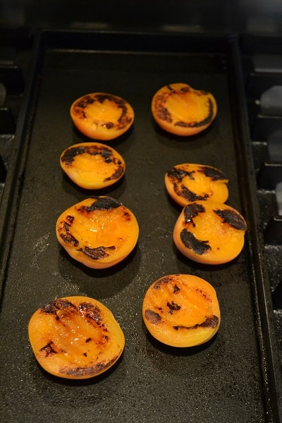 grilled apricots