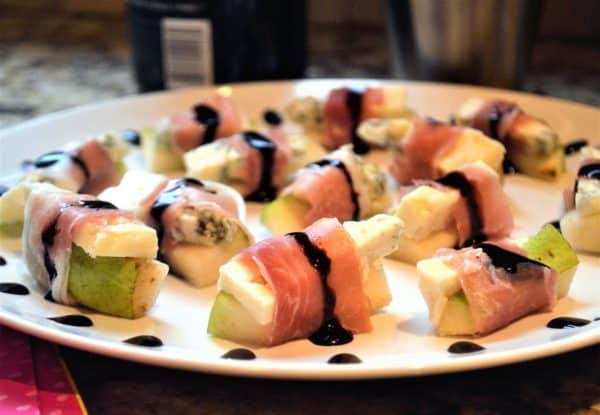 Prosciutto and Blue Cheese Pear Bites are one of my favorite fancy appetizers.