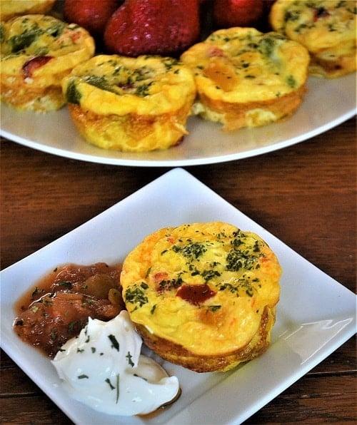 Mini baked frittatas are a healthy egg breakfast