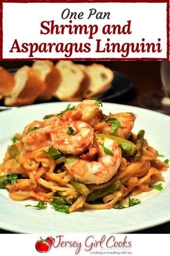 one pan shrimp linguini