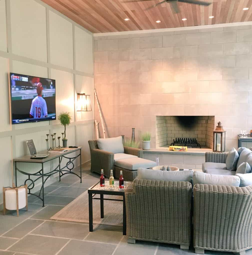 Living room of house from Xfinity home tour